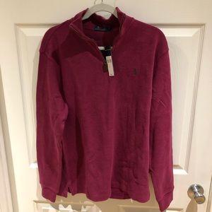 NWT men's quarter zip polo sweater